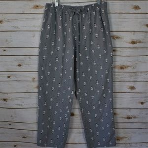 Old Navy Gray and White  Snowman Pajamas Bottoms